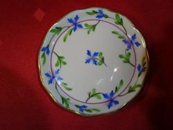 Herendi porcelán mini asztalközép, átmérője 8 cm.