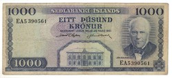 1000 kronur 1961 marz 29. Izland