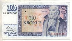 10 kronur 1961 mars 29. Izland 1.