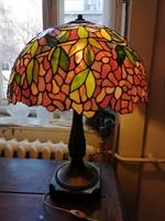 Szecessziós Tiffany stílusú asztali lámpa extra nagy méretű.