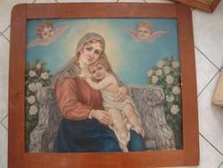 Prof. Hans Chytra: Szentkép, Madonna virágok közt