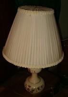 Zsolnay asztali lámpa búzavirág motívum törpéletes állapotban új