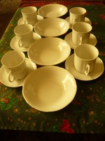 Porcelán kávés/teás/reggeliző készlet