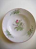 Fali tányér, rózsamintás