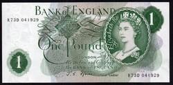 Anglia 1 pound UNC 1966