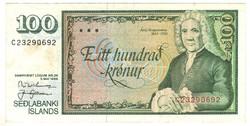 100 krónur 1986 Izland