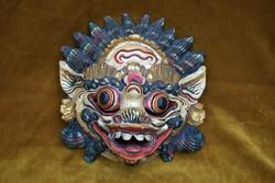 Indonézia Barong maszk balinéz kézi fafaragás festés Bali