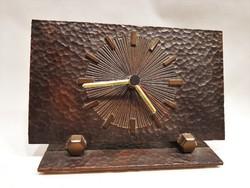 Modern ötvös iparművész bronz design kandallóóra