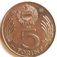 5 Ft.-os 1  db  1989 -ben  kiadott érme Kossuth  képpel eladó