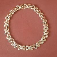 Coco Chanel mintázatú aranyozott fémlánc, nyaklánc, öv