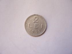 Románia 2 Lei 1951  R
