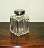 Antik Bécsi pipere üveg 13 Lat - os ezüstel