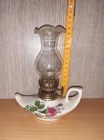 Kis porcelán petróleum lámpa