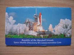 Marshall szigetek 5 $ - A Discovery űrsikló útja 1988
