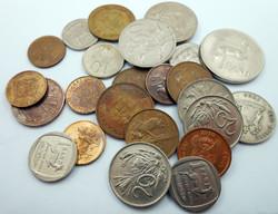 Dél-Afrika váltópénz pénz érme pénzérme kupac