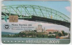 Magyar telefonkártya 0351  2001 Mária Valéria híd     50.000  Db-os