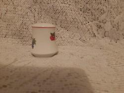 Alföldi jelzett porcelán ritka gyümölcsmintás sószóró dugó nélkül 7 cm