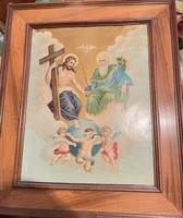 Kézzel festett vallási témájú kép vászon