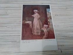 Antik képeslap. Wiener Kunst.