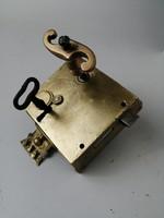 Barokk zár sárgarézből - Baroque antique lock