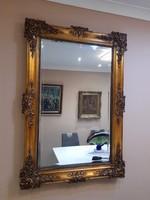 Gyönyörű antik barokk velencei tükör 125×86cm
