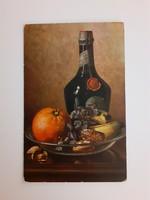 Régi képeslap M. Billing művészi levelezőlap csendélet