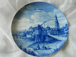 12. Saarbrücker  Teller 1984, dísztányér, fali tányér sorozat, Fürstenberg West Germany
