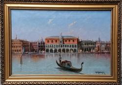 Velence - Antik festmény