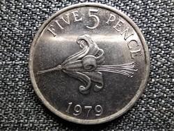 Guernsey II. Erzsébet 5 penny 1979 (id42073)