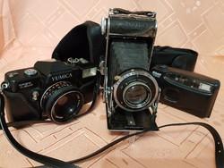 Padlásról 3 darab fényképezőgép, fellelt állapotban!