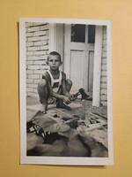 Antik levelezőlap - fotó képeslap, 1943