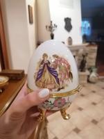Ékszertartó tojás alakú porcelán doboz nagy méret (Ér-571)