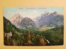 Antik levelezőlap - fotó képeslap, Tátra:Tarpatakvölgy, 1908