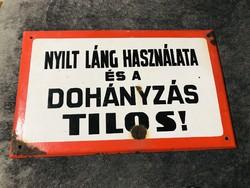 Régi Zománctábla ,zománc tábla 39,5x24,5 cm