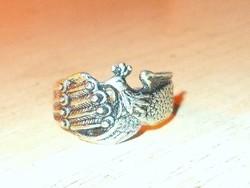 Antik Páva mint Tibeti ezüst ötvös Gyűrű 7.5-es