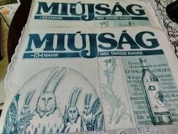 Régi újság , Miújság . Mahir 1982 . tavaszi kiadványa.