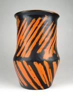 1C077 Régi hibátlan Gorka Lívia kerámia váza 21 cm
