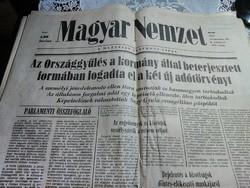 Régi újságok , Magyar Nemzet 1987.IX.21 -1987.VI.19