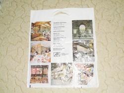 Retro Állami Könyvterjesztő Vállalat - Művelt Nép - könyv reklámszatyor reklám nylon szatyor zacskó
