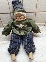 Antik porcelán fejű Baba, bohóc eladó!.Gyönyörű, művészbaba