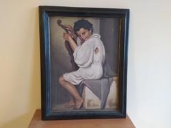 Váry Kelemen rendhagyó cigánylányt ábrázoló festménye