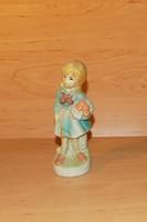 Capodimonte porcelán kislány figura 13,5 cm (po-3)