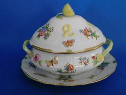 Herendi Viktória 24 sz barokk nagyméretű levesestál + kínáló