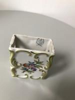 Herendi Viktória mintás gyufa tartó jelzett porcelán