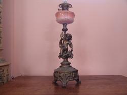 Óriási dekoratív figurális petróleum lámpa