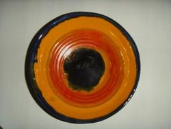 Laborcz Mónika , iparművész , mély falitányér , tányér , 20 cm