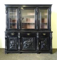 0X574 Antik faunfejes ónémet tálaló szekrény
