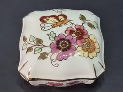 Zsolnay Pillangós bonbonier 7,5 cm x 7,5 cm