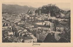Régi képeslap, Salzburg látképe
