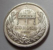 1 korona 1915  verdefényes